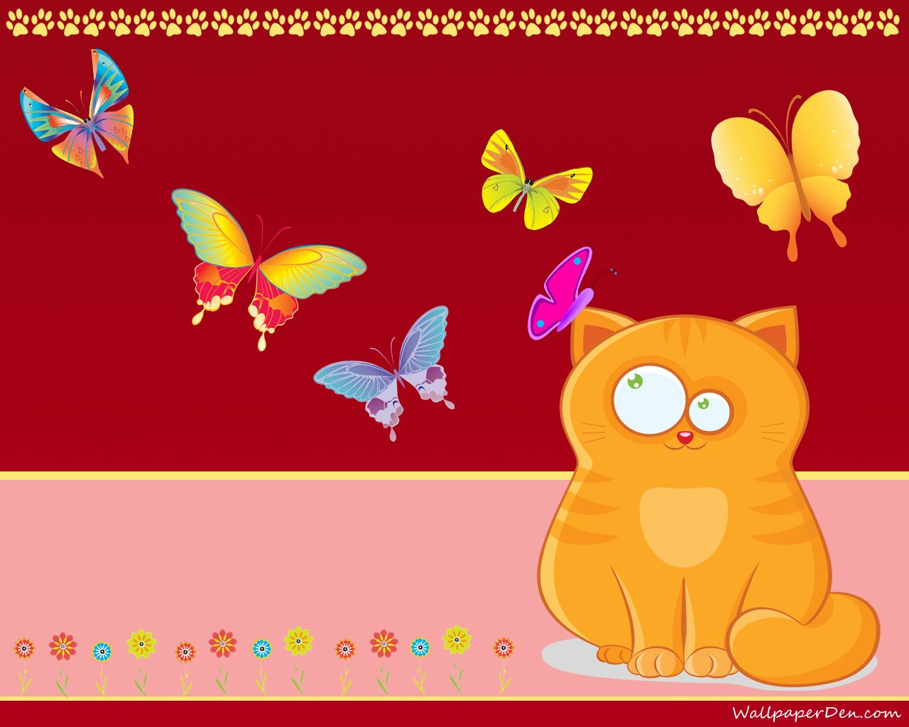 Cute cartoon cats wallpapers 1280x1024px drawings cute - Cat wallpaper cartoon ...