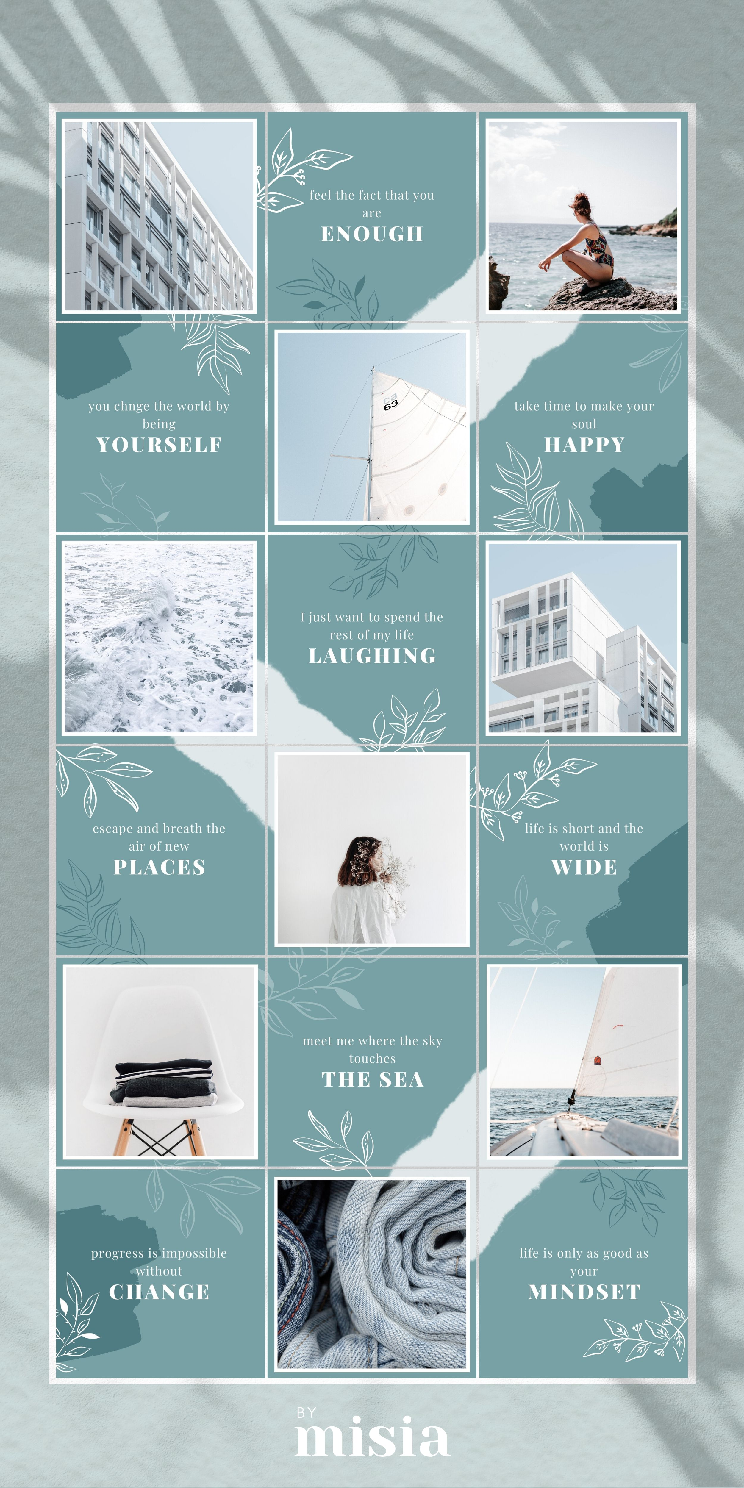 Instagram Puzzle Template For Canva Instagram Template Puzzle Feed Canva Templates Instagram Feed Instagram Posts Post Templates Instagram Feed Layout Instagram Template Design Instagram Template