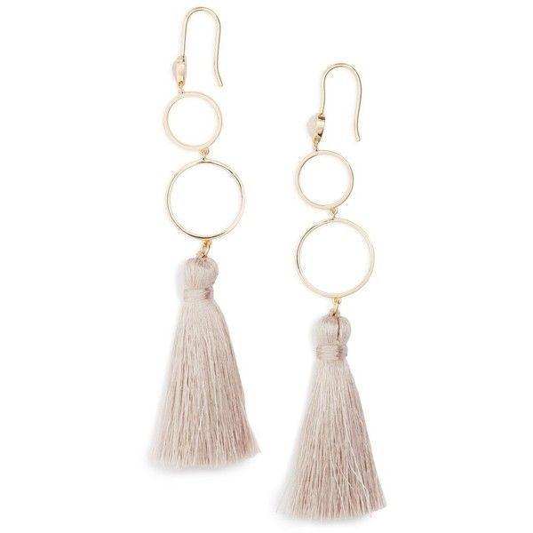 Women\'s Melanie Auld Open Circle Tassel Earrings ($135) ❤ liked ...