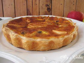 Aly's Cakes: TARTA DE QUESO Y MANZANA CON CHOCOLATE