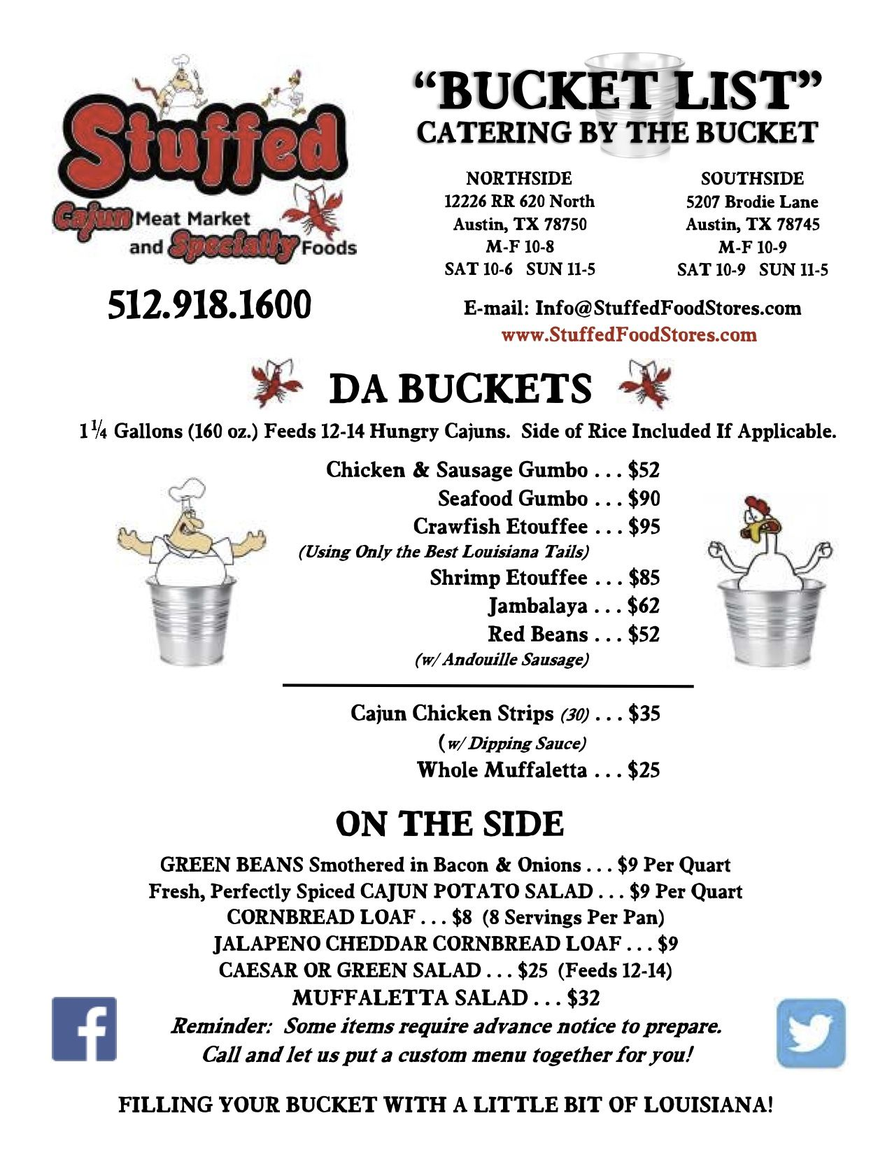 Cajun Catering by the Bucket