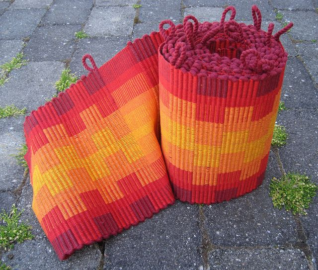 Potholders off the loom Woven things that I admire