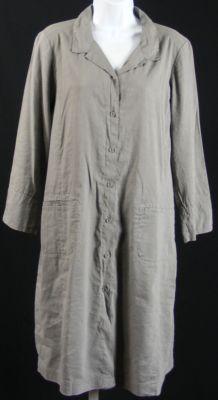 Eileen Fisher Classic Collar Shirt Dress In Linen Viscose Stretch Collared Shirt Dress Shirt Dress Shirts