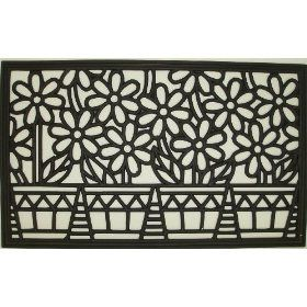 Flower Pots Cast Iron Vulcanized Rubber Rectangle Outdoor Mat 18x30 By Iron Gate Classic Styling And Ultra Strong Con Rubber Door Mat Door Mat Summer Doormat