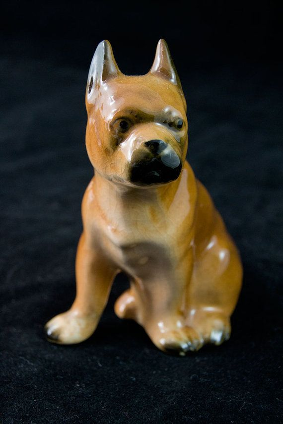 Bulldog Bully Dog Figurine Mid Century by MorningGloryModerne