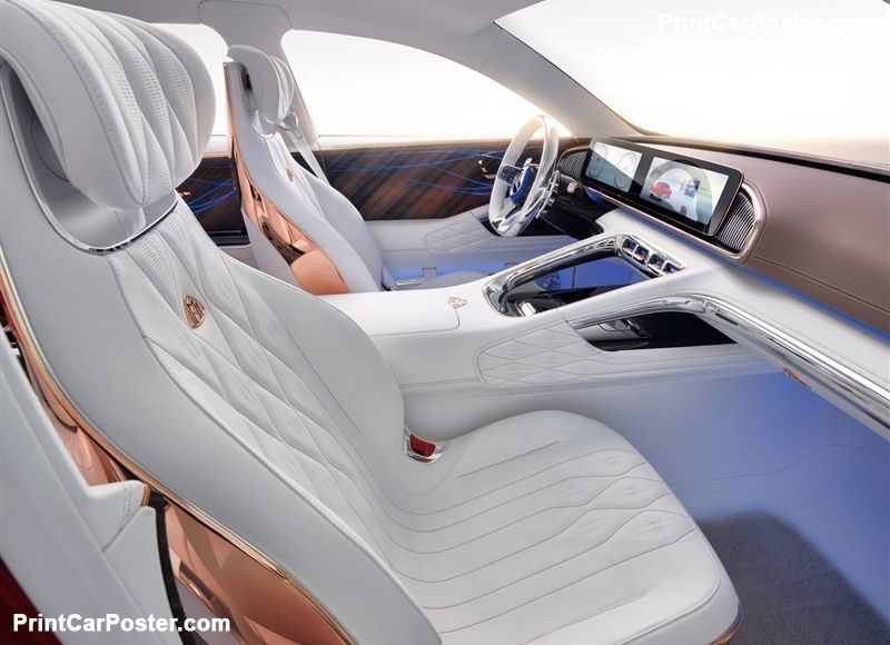 mercedes benz vision maybach ultimate luxury concept 2018 poster rh pinterest com