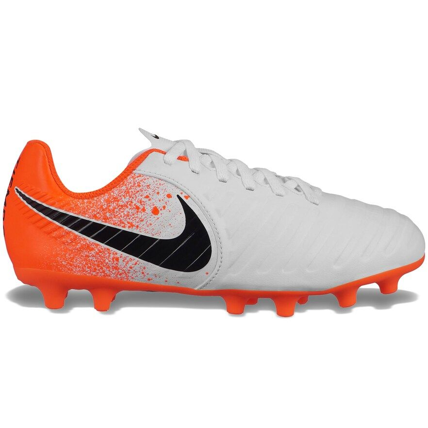 Nike Tiempo Jr Legend 7 Club Kids Multi Ground Soccer Cleats Kids Unisex Size 13 White Soccer Cleats Soccer Shoes Club Kids