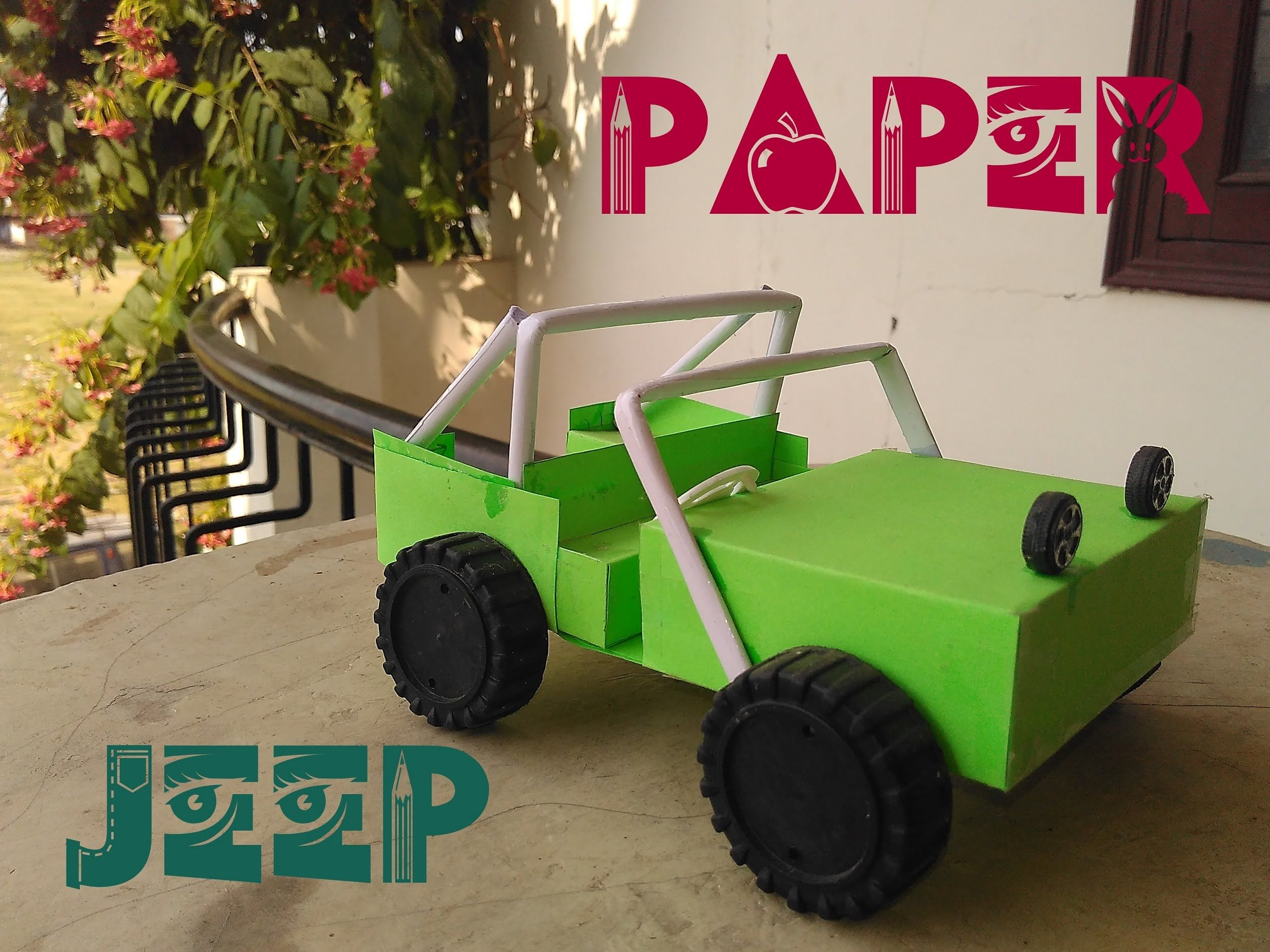 How To Make A Paper Jeep Paper Car Easy Tutorial Toy For Kids