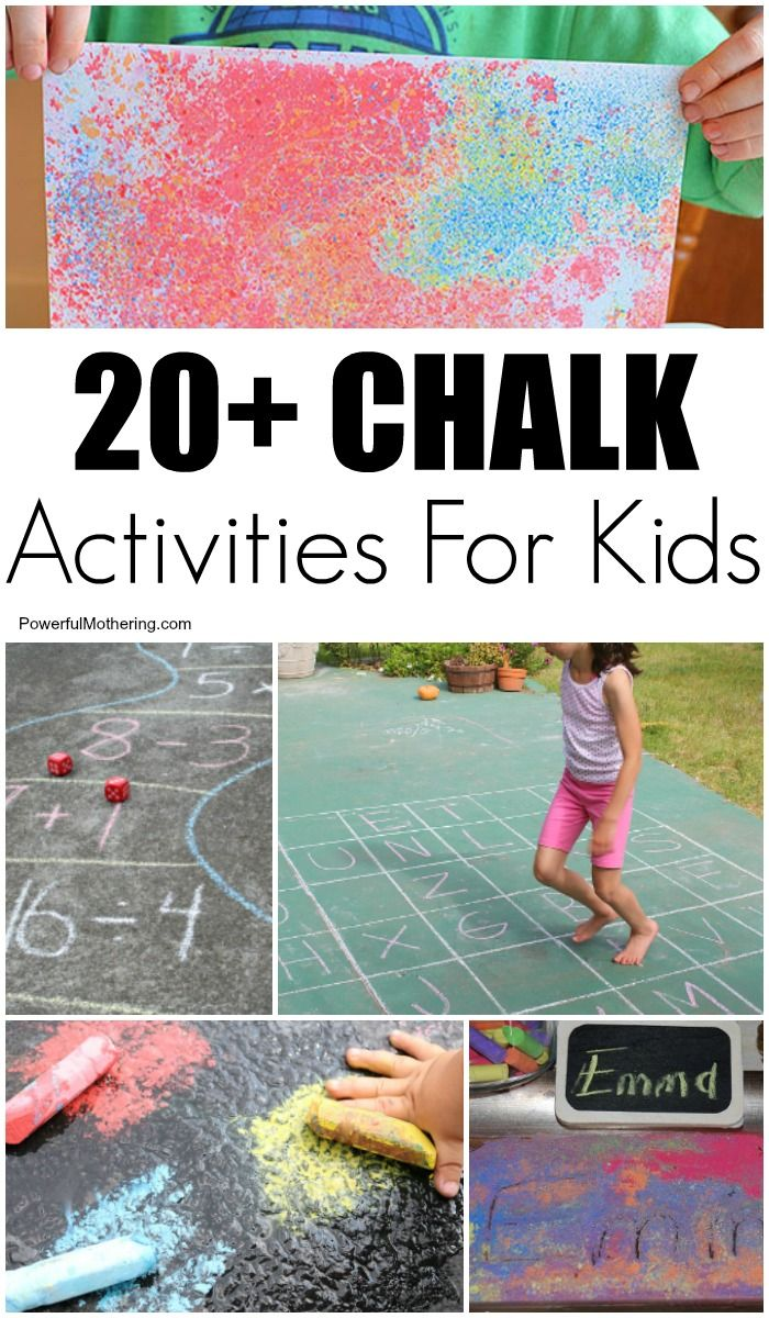 20 chalk art and learning ideas for kids summer fun for kids rh pinterest com