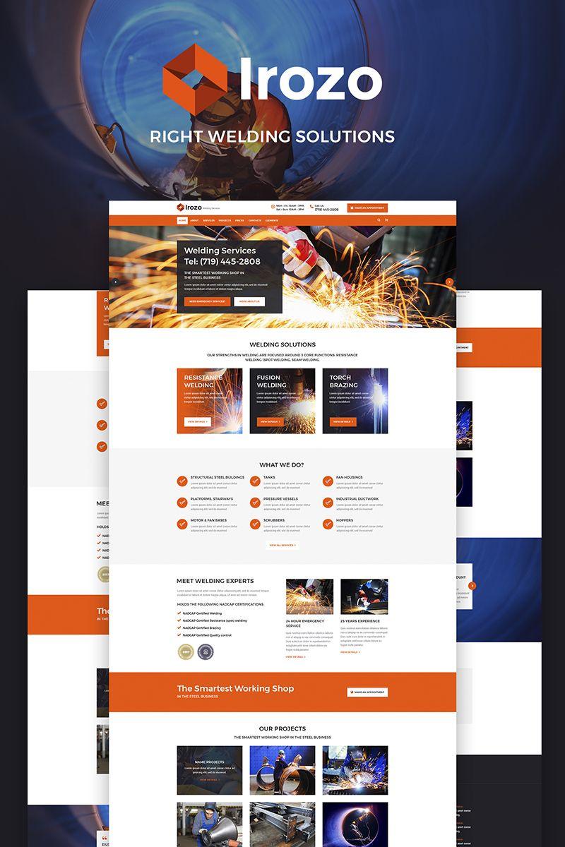 irozo welding services wordpress theme new website templates