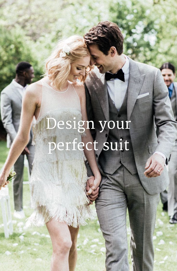 Design your wedding dress free  Tie the knot in style Grooms get a free made to measure suit when