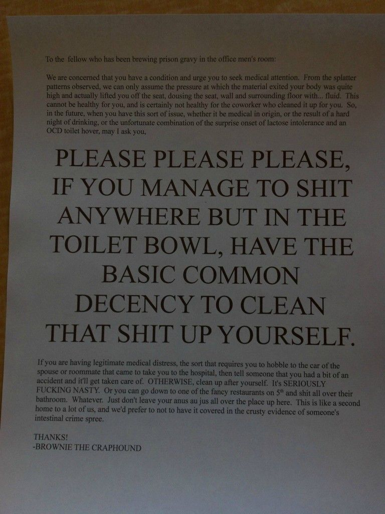 hilarious sign on the wall of the office bathroom decorating rh pinterest com
