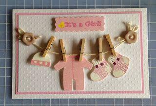 Randis hobbyverden: BABYKORT klessnor i rosa
