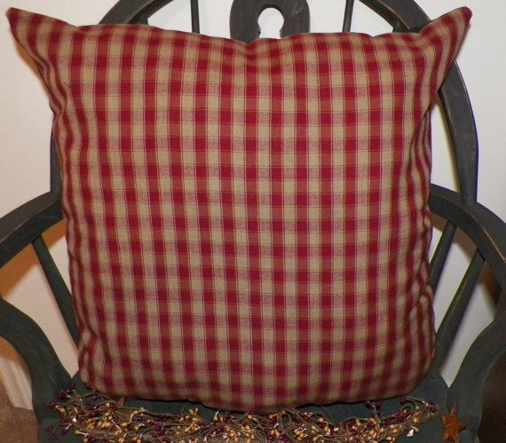 UNSTUFFED Primitive Pillow Cover Large Country Cushion Home Decor Inspiration Primitive Pillow Covers