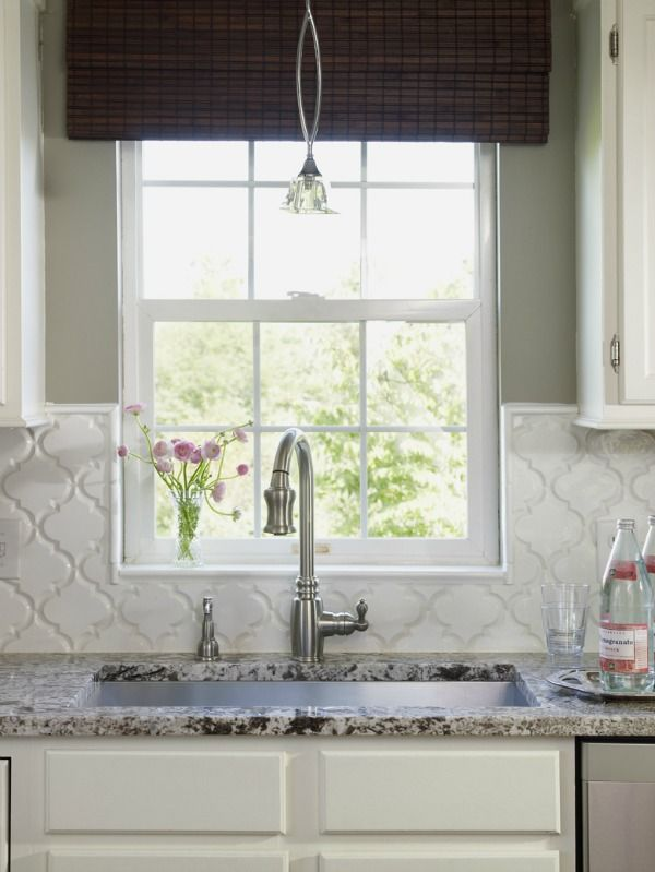 kitchen backsplash tile how high to go kitchen arabesque tile rh pinterest com