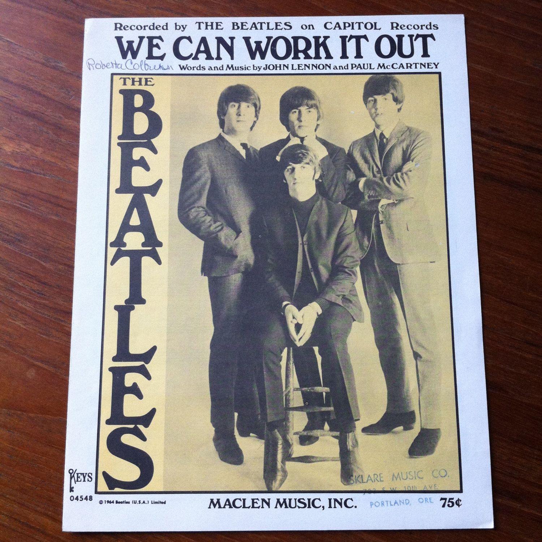 The Beatles We Can Work It Out Sheet Music Lyrics Maclen 1965 Keys John Lennon Paul Mccartney Rock And Ro The Beatles Paul Mccartney John Lennon Paul Mccartney