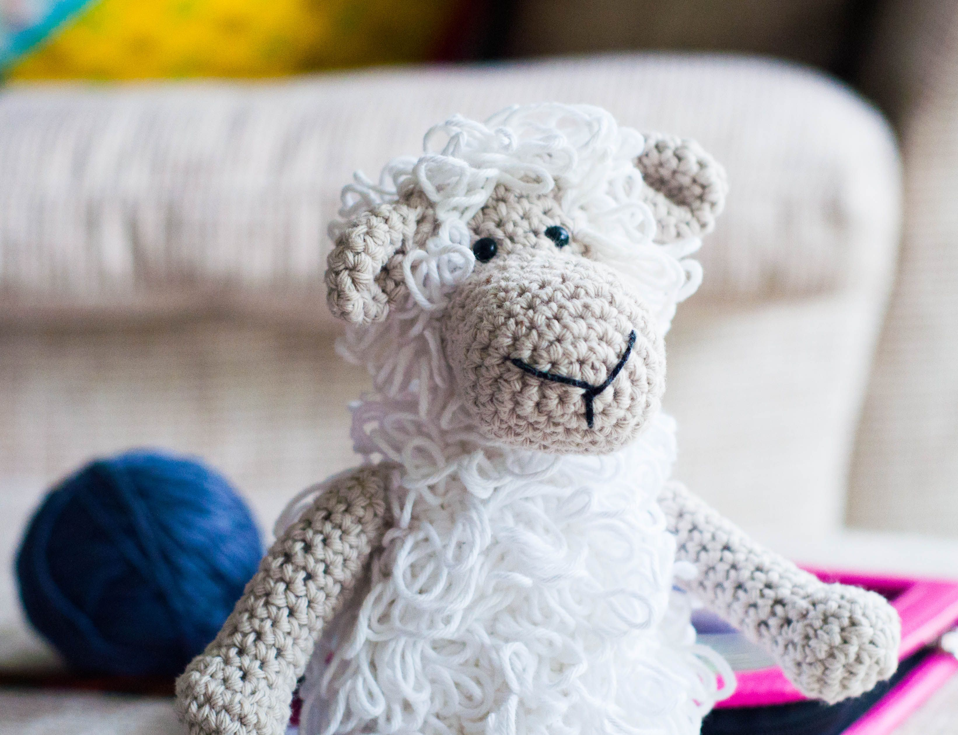 The loop stitch sheep | crochet | Pinterest