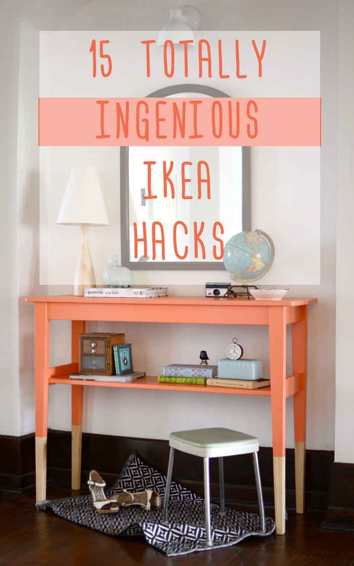 15 totally ingenious ikea hacks ikea pinterest m bel ikea and ideen. Black Bedroom Furniture Sets. Home Design Ideas