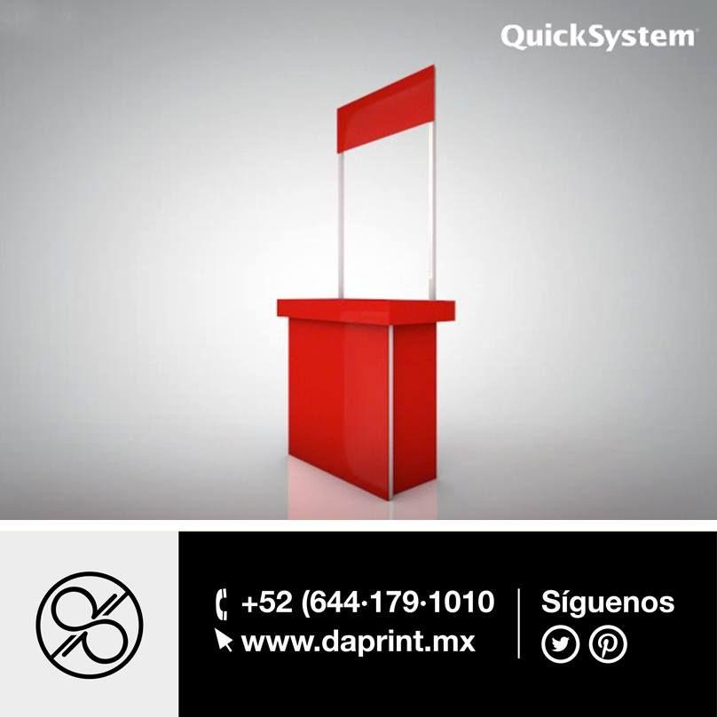 Los módulos #QuickSystem se pueden montar en minutos en una sala de juntas, exposición, lobby de un edificio ó en el punto de venta. #Daprint distribuidor autorizado