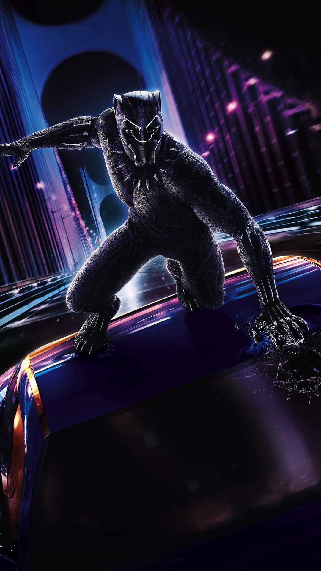 Marvel Black Panther Action Wallpaper Pantera negra