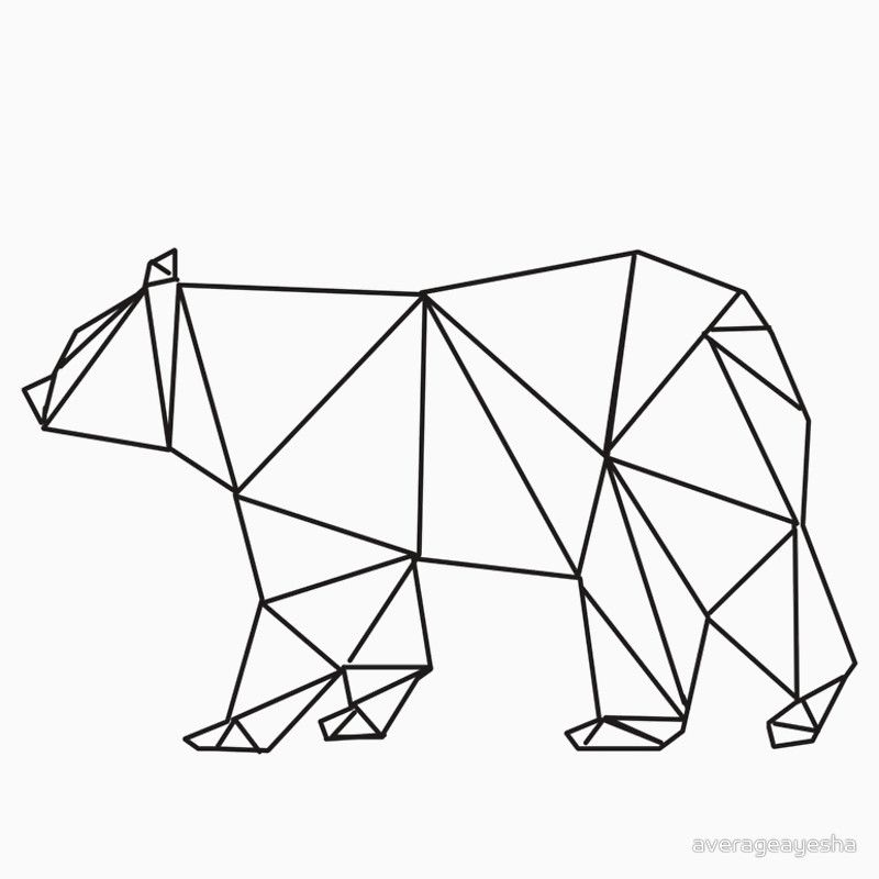 geometric bear google zoeken ours dessins pinterest dessin dessin origami et dessin. Black Bedroom Furniture Sets. Home Design Ideas