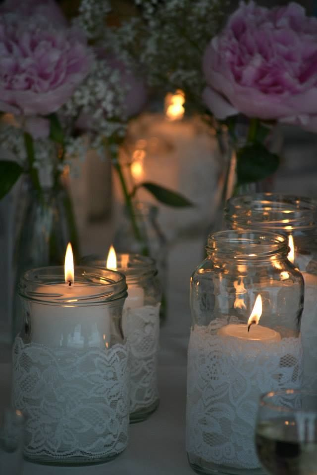 Take a small simple candle wrap sprigs