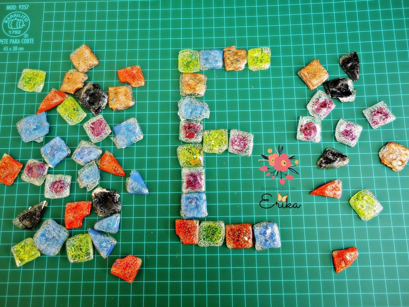 Reciclando con Erika : Teselas o azulejos con cd reciclados, tutorial completo paso a paso