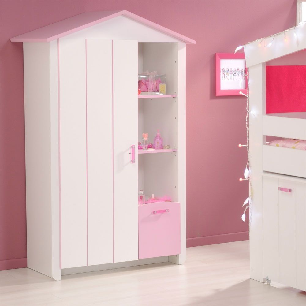Kinder Kleiderschrank weiss rosa Lilith Pharao24 | Baby\'s Room ...
