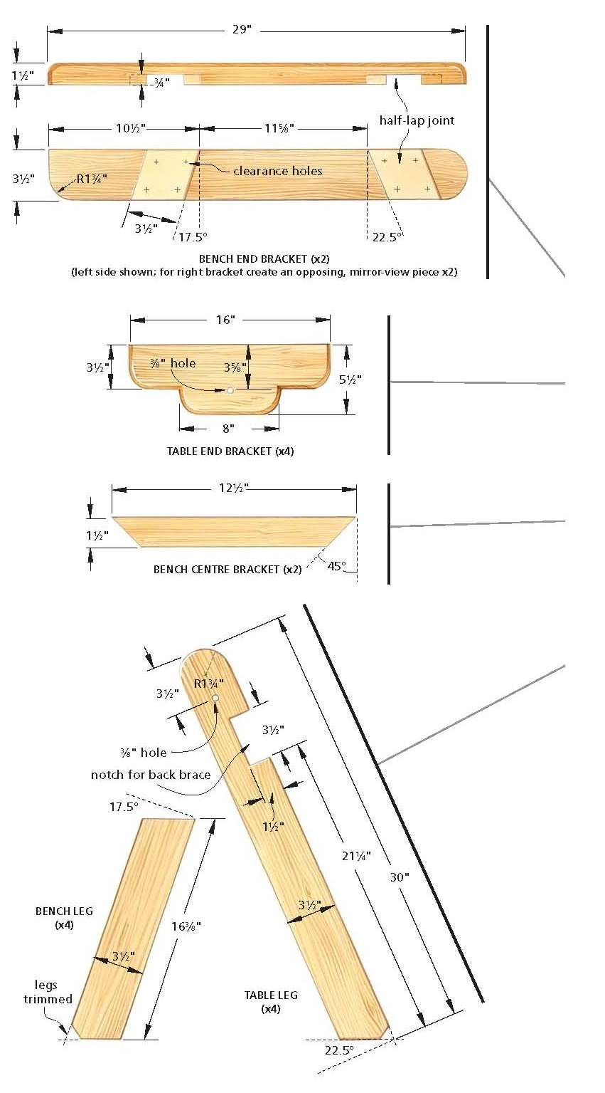 Bench that converts into a picnic table diy plans for - Folding picnic table plans free ...
