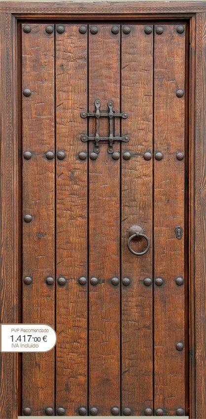 Puertas r sticas alpujarre as artesanos de la puerta for Puertas principales de madera rusticas