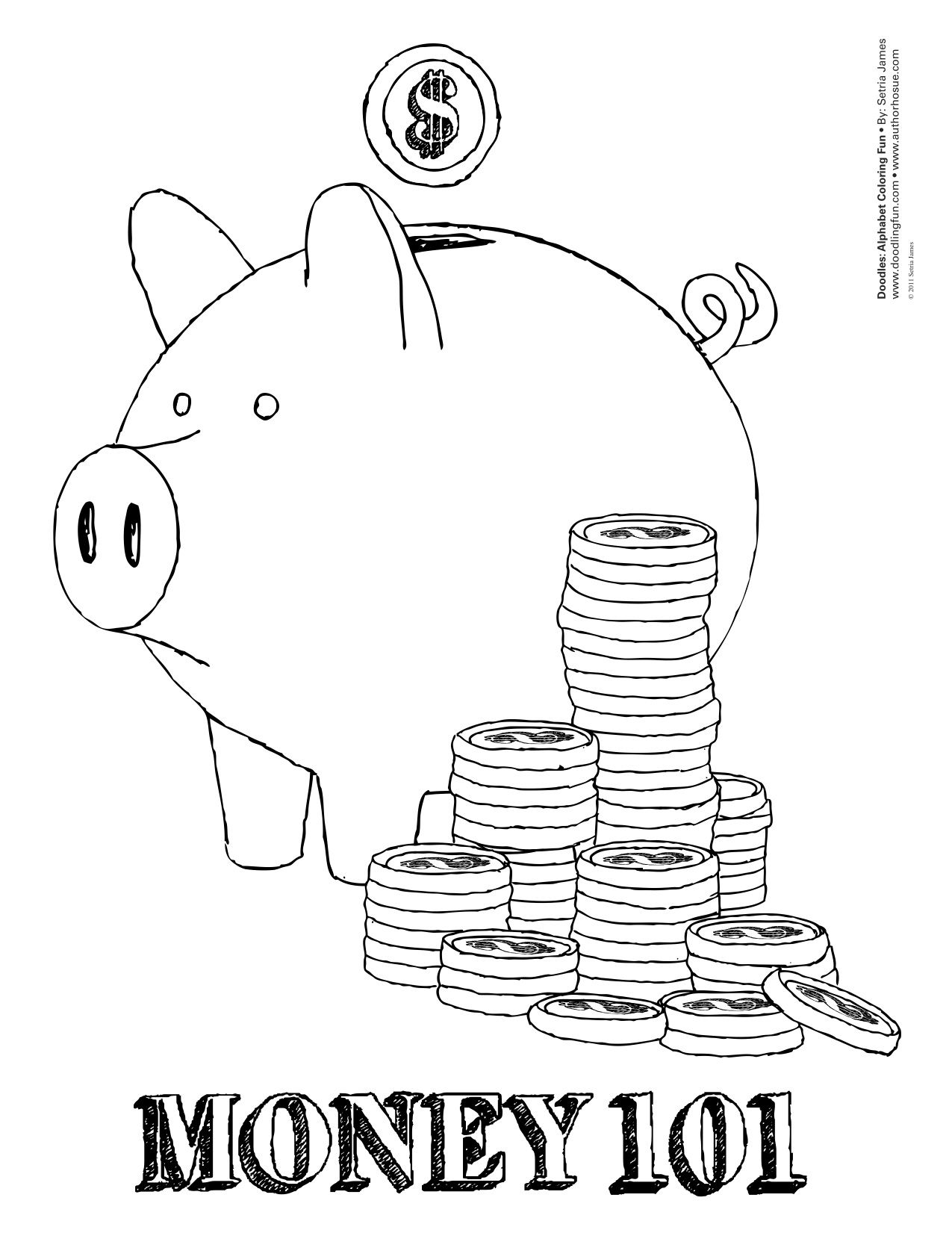 Nice Coloring Pages Of Money 13