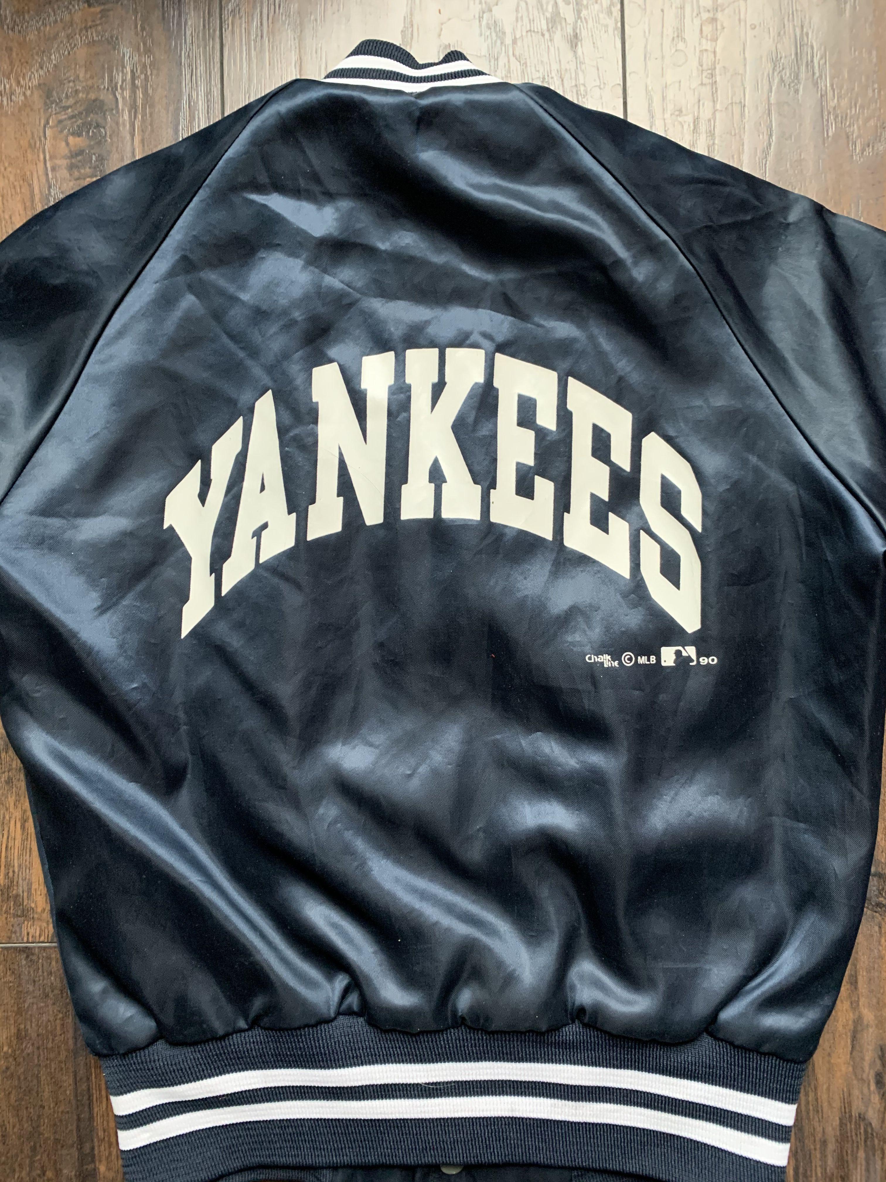 Sold Vintage 90s Chalk Line Yankees Baseball Jacket Youth Jackets Baseball Bomber Jacket Baseball Jacket
