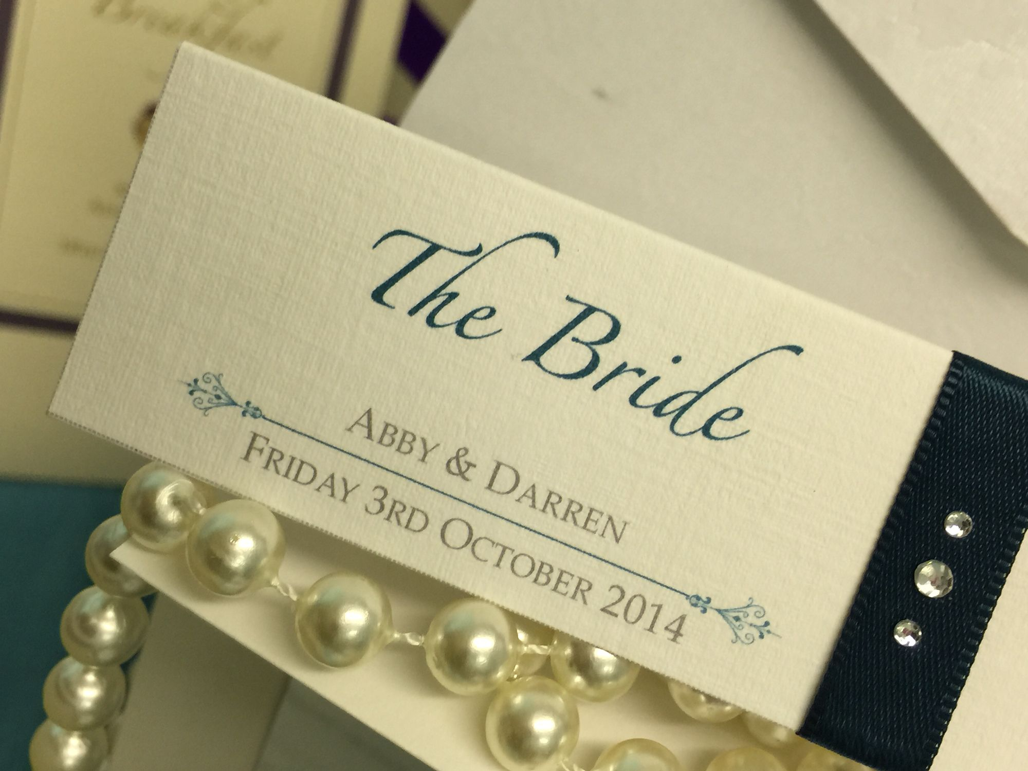 Wedding stationery London beautiful bespoke handmade teal