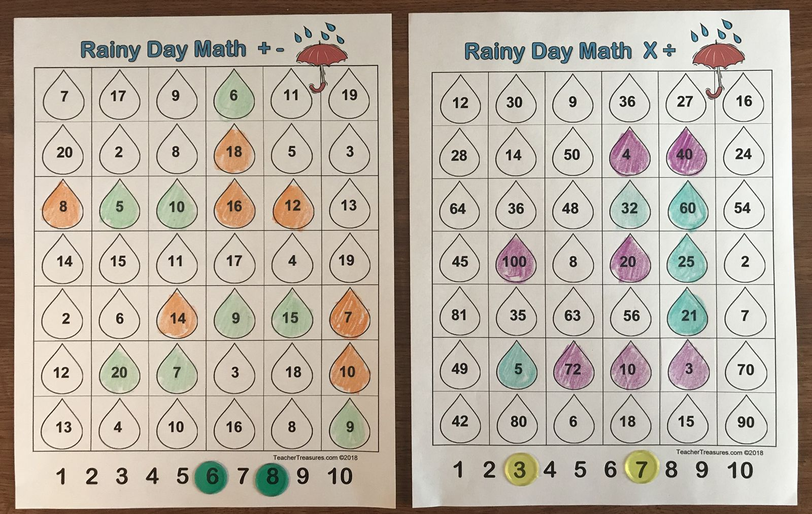 Rainy Day Math Game