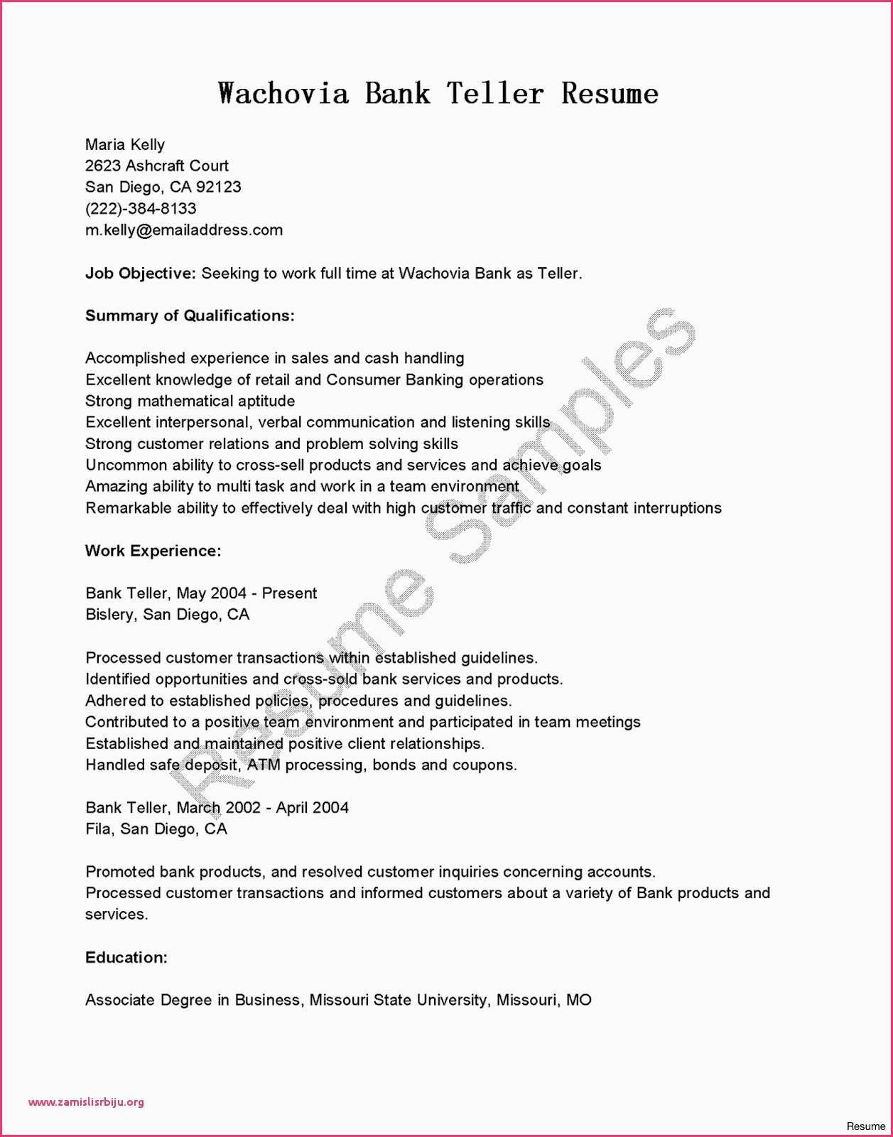 23 Bank Teller Cover Letter Sample For With No Experience 17 Citibank