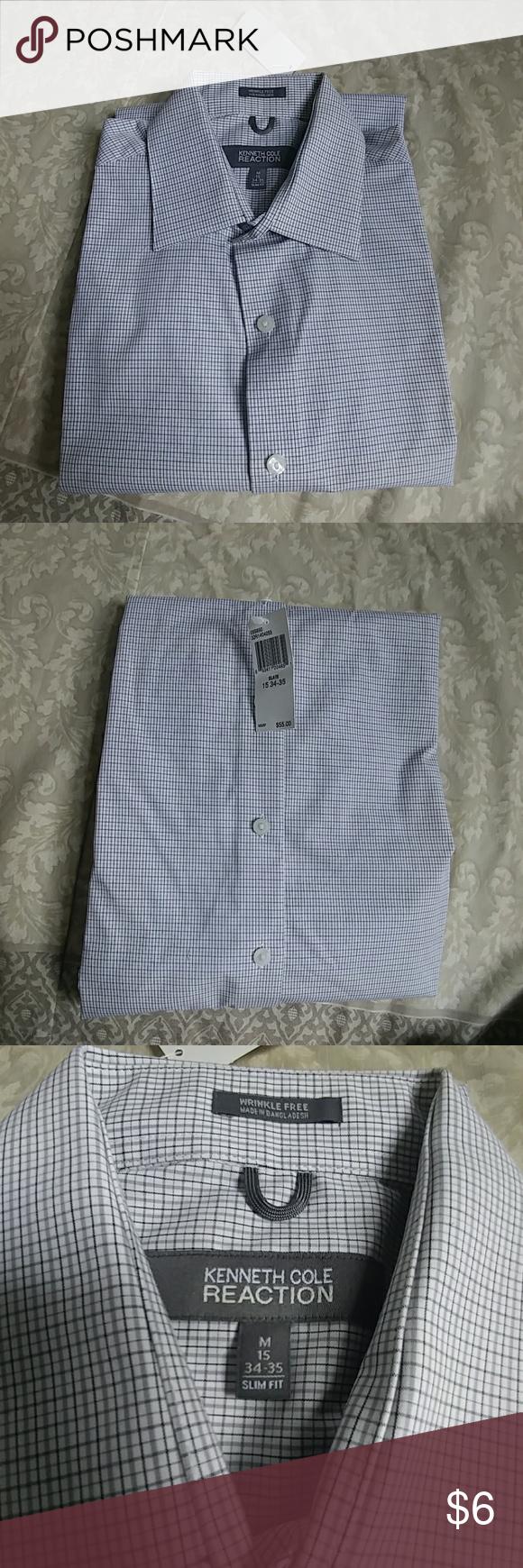 Kenneth cole reaction menus shirt nwt menus long sleeve dress shirt