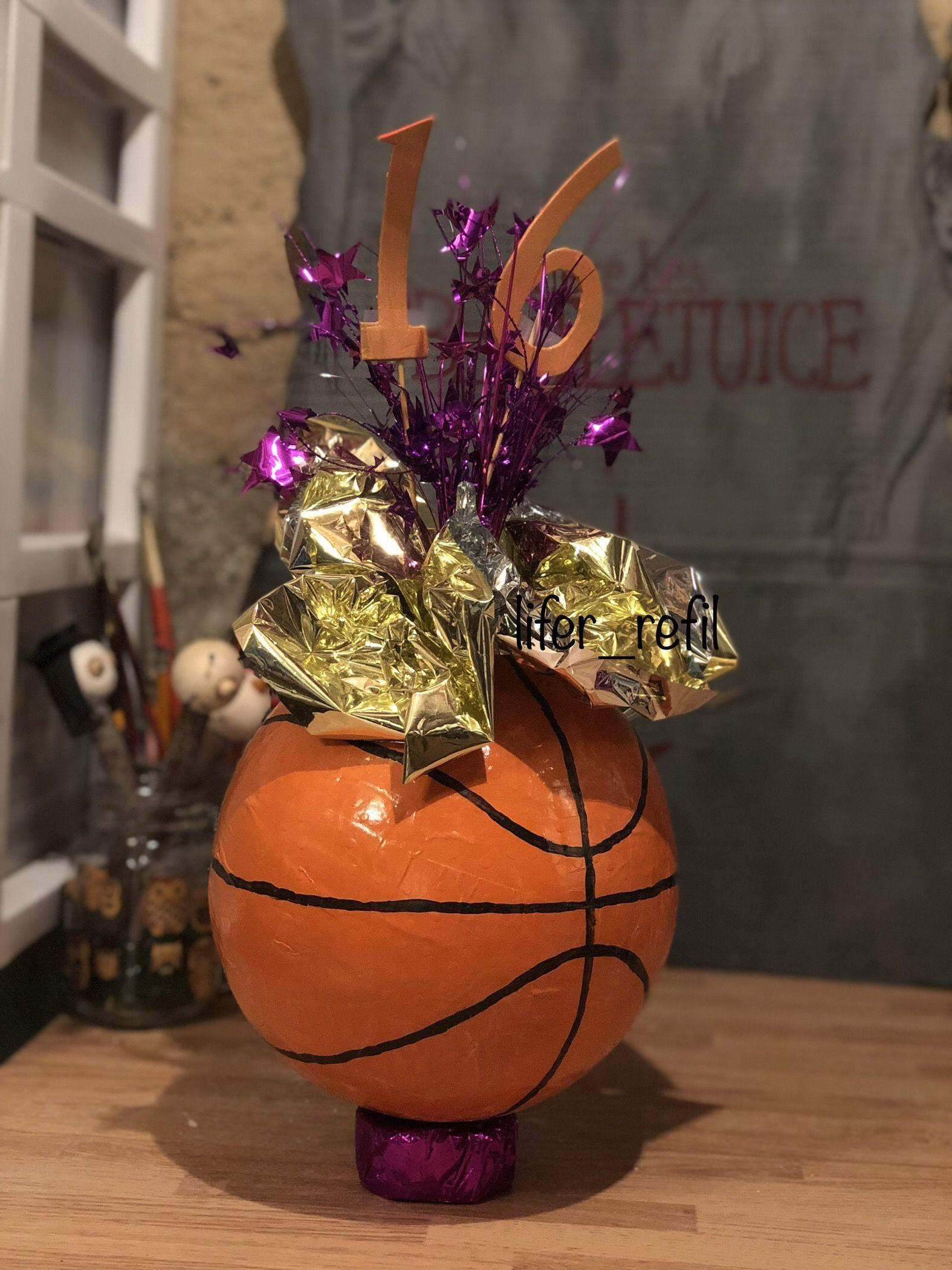 paper m ch basketball centerpiece papier m ch basketball rh pinterest fr