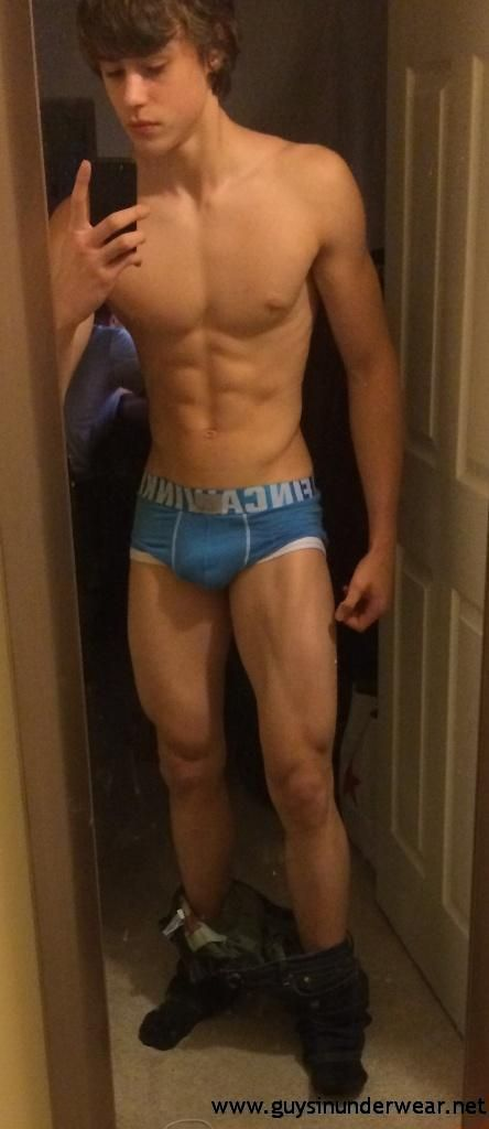 Ripped boy jerking off