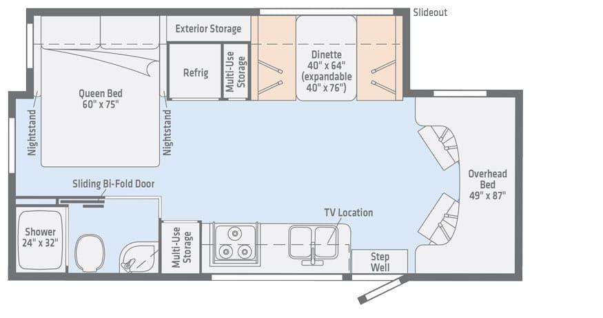 Vita 24p Mercedes Benz Diesel Floorplans Winnebago Rvs Floor