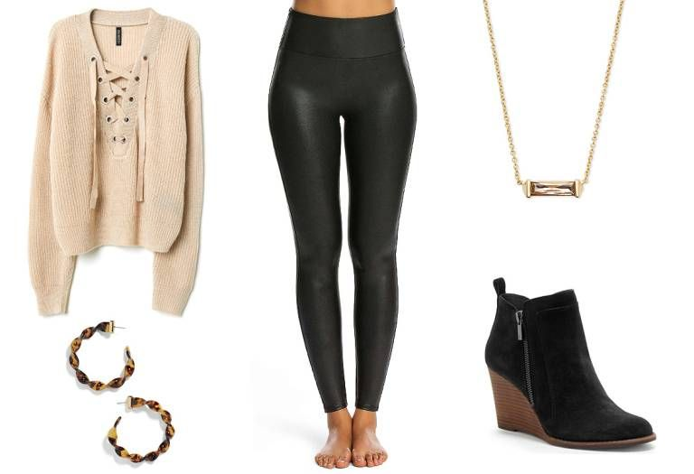 5 Chic and Comfortable Ways to Wear Leggings on Thanksgiving, No Matter What Your Plans Are #friendsgivingoutfit