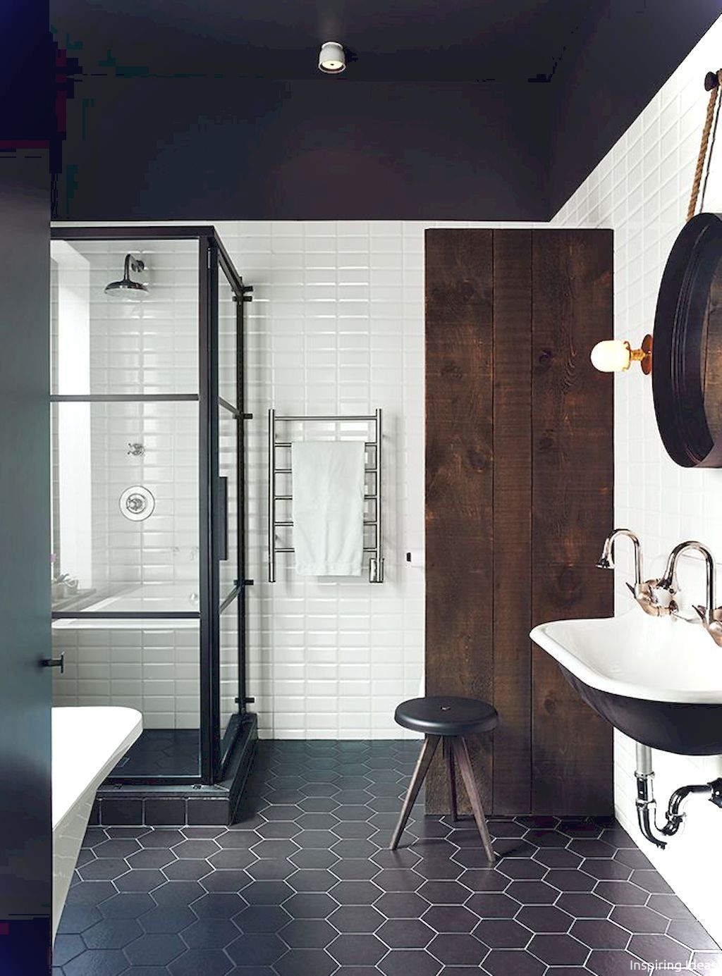 luxury black and white bathroom ideas 07 bathroom pinterest rh pinterest at