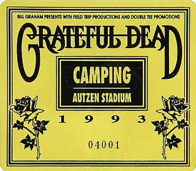 Grateful dead sticker eugene oregon 1993