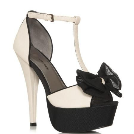 Summer 2013 steve madden shoe Fashion Trends | justfab black and white peep toe t-bar high heels 2013 shoe trends