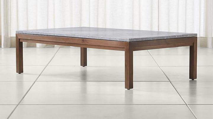 parsons grey marble top elm base 60x36 large rectangular coffee rh pinterest com