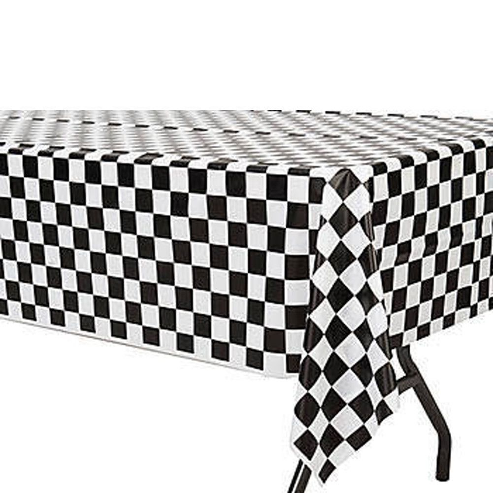 Checkered Racing Plastic Rectangle Table Cover   Table covers ...