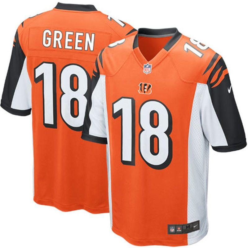 07da7baa AJ Green Cincinnati Bengals Nike Youth Alternate Game Jersey ...
