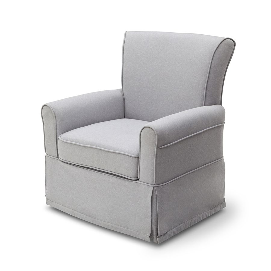 Cool Delta Epic Polylinen Glider Heather Grey Toysrus Lamtechconsult Wood Chair Design Ideas Lamtechconsultcom