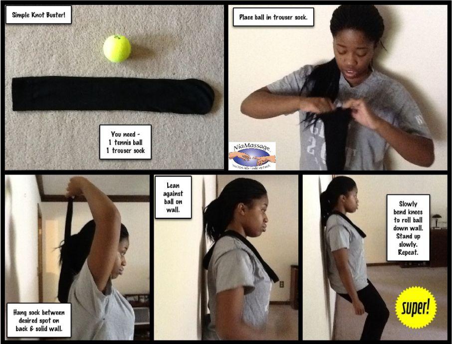 Tennis ball massage Massage, Health skin care, Self massage