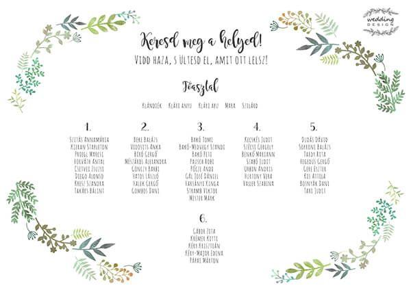 Esküvői termékek a Greenery láz jegyében!   Wedding Design Blog