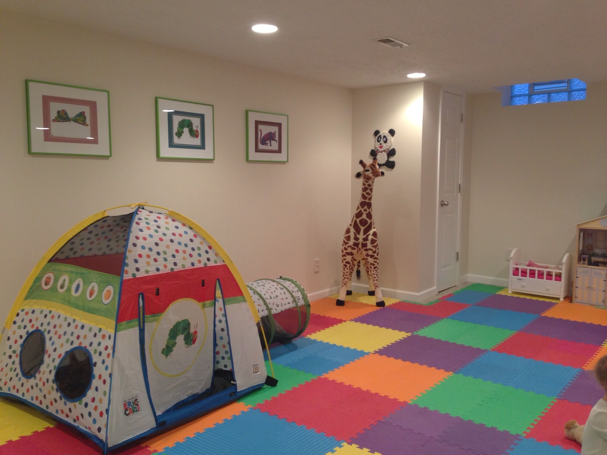 Finished Basement Playroom Project Matted Prints From The Eric Carle